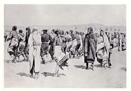 Opening of the battle of wounded knee frederic remington harper s
