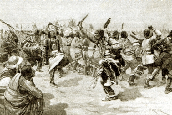 The ghost dance of the sioux indians in north america quot illustrated